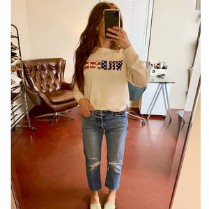 WILDFOX Graphic American Flag Sweater